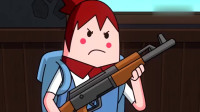 搞笑吃鸡动画:霸哥给萌妹现身说法,换弹癌的致命,多么痛的领悟!