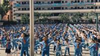 甘肃一小学课间操千名学生齐跳街舞 嗨翻校园