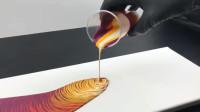 丙烯酸浇注 - 五种颜色的旋流技术