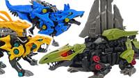 索斯机兽ZOIDS荒野纪ZW19方虎和ZW16机动猎狼玩具