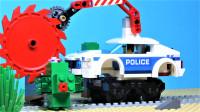 定格动画-乐高城市故事之铁路旋转破坏机追逐战
