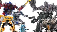 定格动画-变形金刚玩具对战汽车人VS霸天虎机器人变形玩具