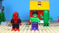 定格动画-乐高城市故事之绿巨人VS蜘蛛侠英雄事迹比赛