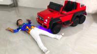 超酷,小正太的新车豪华小奔越野车玩得好累啊,萌娃囧事!
