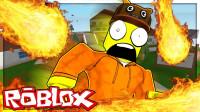 Roblox自然灾害模拟器!坐铲车躲避火灾!意外掉海里?面面解说
