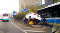 上去容易下来难,行车安全记心间,中国交通事故合集2019