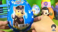 小琦和汪汪队立大功阿奇拆奇趣蛋玩具 拆出了小猪佩奇里的猪妈妈 09