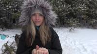 冒险 之在大雪中捉鳟鱼! ! 冬天的冰钓鱼