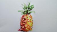 水彩画菠萝窦老师教画画