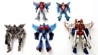 变形金刚五个霸天虎红蜘蛛机器人玩具变形展示