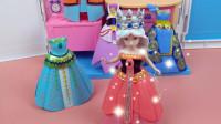 叶罗丽公主日记:冰公主跟水王子参加晚会,她试穿漂亮的公主裙!