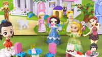 小琦公主世界 第02集 白雪公主和香香公主花仙子一起帮助小琦搭建城堡的冷饮餐厅