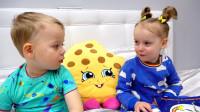 萌娃小可爱们在一起聊理想,两个小家伙真是萌萌哒!—萌娃:我以后还是不当歌手了!