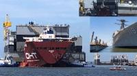 美军伯克舰再次上演碰碰船,对手竟是中国浮船坞