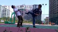 梁火龙 瞬击道 快速功夫腿法演示,不同于李小龙截拳道和韩国跆拳道及日本空手道腿法