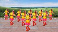 广场舞《格桑花》欢快32步,随着节拍起舞,喜悦的歌声飘向草原