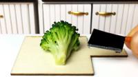原创定格动画:纸上种出西兰花,再来做一道菜,迷你食玩太有趣了