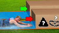 熊孩子实力作死,家中自制未知水滑道,滑进去的瞬间意外发生了!