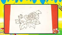 手绘植物花卉简笔画之画芙蓉花