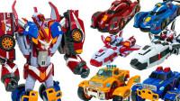 TOBOT V变形金刚炫酷赛车6合一组合机器人变形玩具开箱