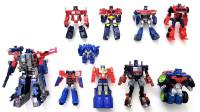10个变形金刚擎天柱大集合不一样的汽车人领袖机器人变形玩具
