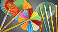 教你折纸伸缩圆扇,看似一支笔,其实内部大有乾坤,超实用!