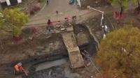 海宁盐官发掘一座南宋古桥