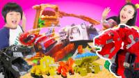 恐龙卡车玩具汽车赛道 看看谁能帮助小恐龙DINOTRUX