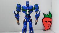 模玩分享磁力机器人库洛斯单体篇-萝卜吐槽番外老D微星小超人