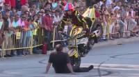 街頭摩托車花式特技表演 1