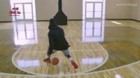 篮球教学:正、反双向胯下运球连招,让你跨下生风!