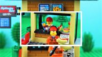 定格动画-乐高城市故事之比利搭建路边快餐店