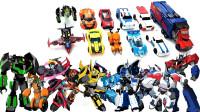 变形金刚动画领袖的挑战中擎天柱大黄蜂横炮等机器人变形玩具