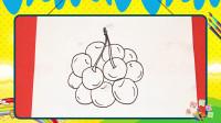 手绘水果简笔画之画樱桃