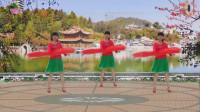 阳光美梅原创广场舞《祝福你 》背面演示-编舞:美梅