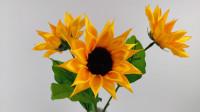 比纸好的丝带向日葵花,来学习一下吧