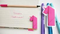 很有风格的折纸独角兽书签!它是高贵纯洁的象征