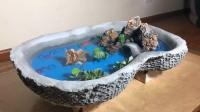 牛人买不到称心的鱼缸,用水泥自制一座水族馆,网友:高手在民间