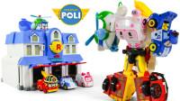 变形警车珀利多合一组合变形金刚机器人玩具