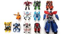 变形金刚动漫版擎天柱大黄蜂横炮钢索等11个机器人变形玩具