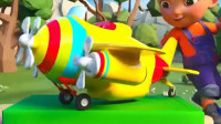 启蒙益智动漫卡通:托马斯小火车运载玩具小飞机 推土机  搅拌车 环保车等学习英文字母