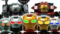 定格动画-乐高城市故事之钢铁侠机器人对战灭霸恐龙玩具