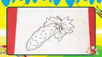 手绘蔬菜简笔画之画苦瓜