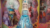 叶罗丽娃娃冰公主玩具视频,冰公主的雕花水晶鞋好漂亮!