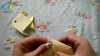 晓丽老师教你做折纸,小朋友们和爸爸一起来做一条《金鱼》吧