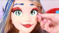 芭比娃娃化妆秀:美容打扮成的瓢虫少女你觉得个性吗?