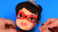 芭比娃娃美妆秀:重新化妆打扮成的瓢虫少女雷迪你觉得可爱吗?