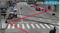 浙江金华:无人驾驶三轮车走S线  连续撞车