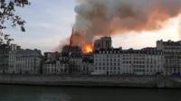 巴黎圣母院发生大火:巴黎圣母院主体结构和重要文物幸免  马克龙誓言重建