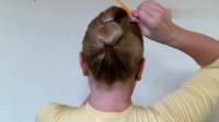 潮流美发分享,美女教你在家就能完成的盘发,简约 大气  时尚 主要是简单易学